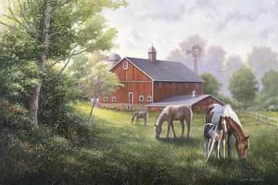 Horse Barn Art Print by John Zaccheo