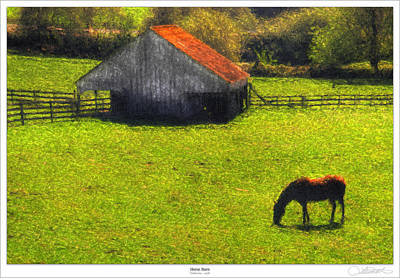 Old Barn Painting - Horse Barn by Lar Matre
