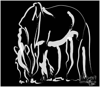 Equine Painting - horse- Be strong by Go Van Kampen