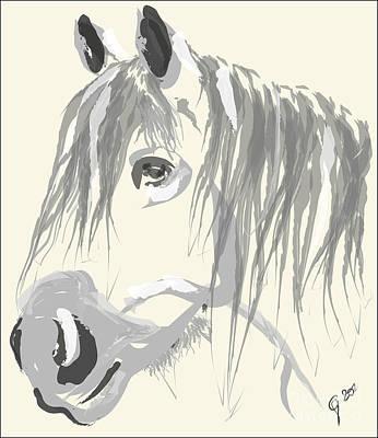 Horse- Big Jack Art Print by Go Van Kampen