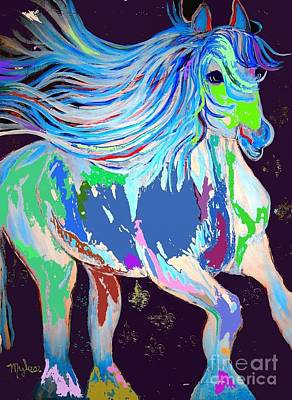 Painting - Horse Bold Colors 2 Fdl Abstract by Saundra Myles