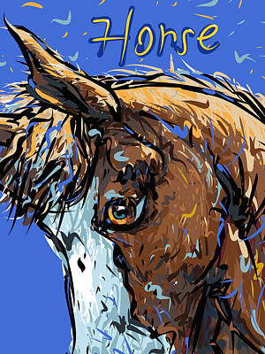 Cartoon Horse Drawing - Horse by Brett LaGue