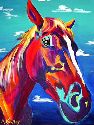 Mustang Painting - Horse - Cannon by Alicia VanNoy Call