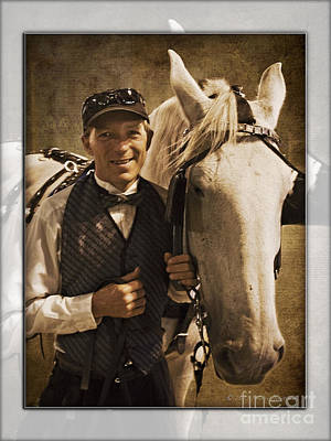 Photograph - Horse Carriage Driver 2 by Walter Herrit