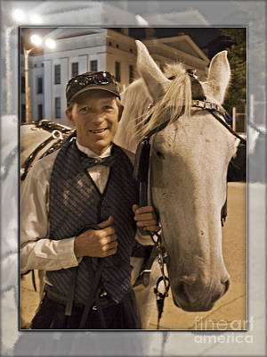 Photograph - Horse Carriage Driver 3 by Walter Herrit