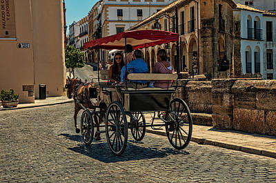 Photograph - Horse Carriage In Ronda. Spain by Jenny Rainbow