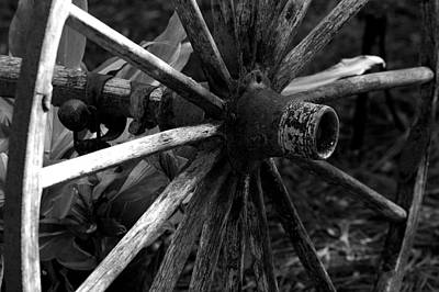 Photograph - Horse Carriage Wheel by David Weeks