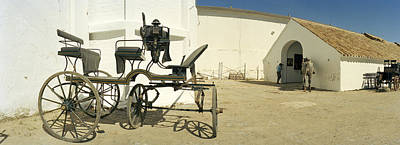 Horse Cart In Front Of A Hotel, Hotel Art Print by Panoramic Images