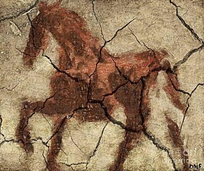 Food And Beverage Digital Art - Horse - Cave Art by Dragica  Micki Fortuna