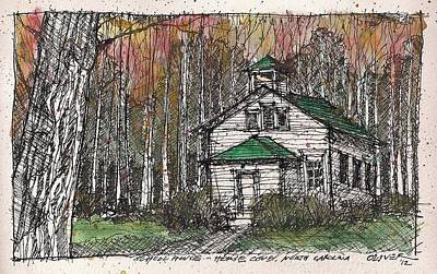 Art Print featuring the mixed media Horse Cove School by Tim Oliver