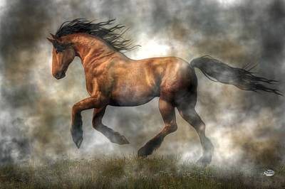 Animals Royalty-Free and Rights-Managed Images - Horse by Daniel Eskridge