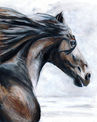 Horse Art Print by Denise Deiloh