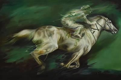 Horse Painting - Horse Derby by Durshit Bhaskar