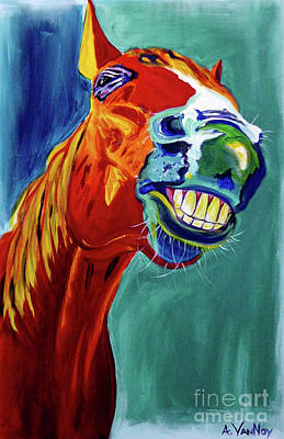 Mustang Painting - Horse - Did Somebody Say Carrots by Alicia VanNoy Call