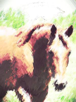 Horse Digital Art Art Print