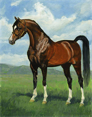 Show Horse Painting - Khemosabi Champion Horse by Don  Langeneckert