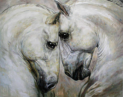 Painting - Horse Duet by Jana Fox