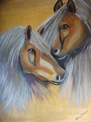 Painting - Horse Duo by Saranya Haridasan
