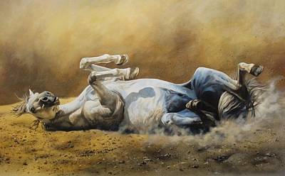 Wall Art - Painting - Horse Dusting by Julian Wheat