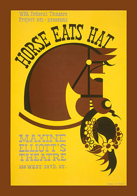 Horse Eats Hat Print by Unknown