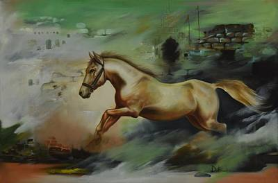 Horse Painting - Horse Equine by Durshit Bhaskar