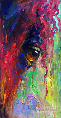 Abstract Impressionism Painting - Horse Eye Portrait  by Svetlana Novikova