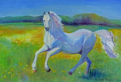 Horse Fancy Art Print by Gwen Carroll