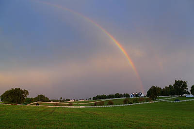 Horse Photograph - Horse Farm After The Storm by Alexey Stiop