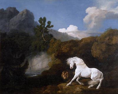 Painting - Horse Frightened By A Lion by George Stubbs