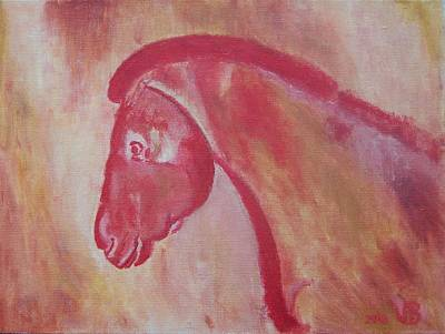 Horse From Chauvet Cave Art Print