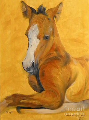 Print featuring the painting horse - Gogh by Go Van Kampen