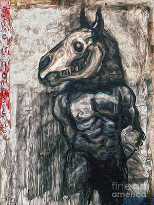 Painting - Horse Head by Gregory Dyer