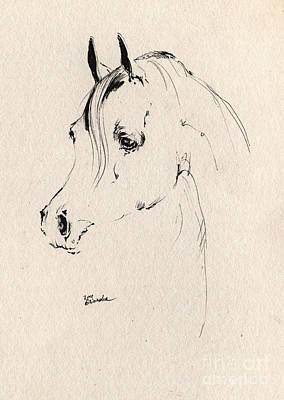 Animals Drawings - Horse Head Sketch by Angel Ciesniarska