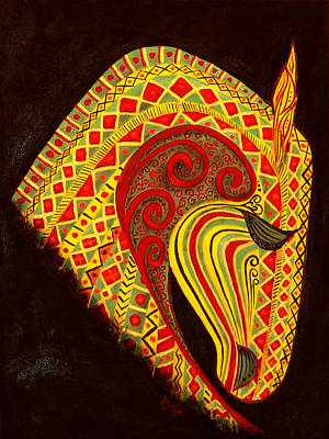 Bonny Painting - Horse  by Hiam  Kurdi