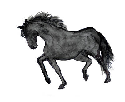 Jogging Drawing - Horse Ill by Nancy Mauerman