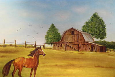 Painting - Horse In A Pasture by Christine McMillan