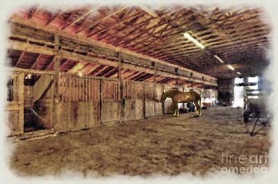 Horse In Barn Art Print by Dan Friend