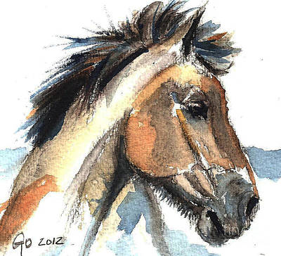 Horse Painting - Horse-jeremy by Go Van Kampen