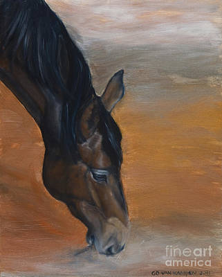 Print featuring the painting horse - Lily by Go Van Kampen