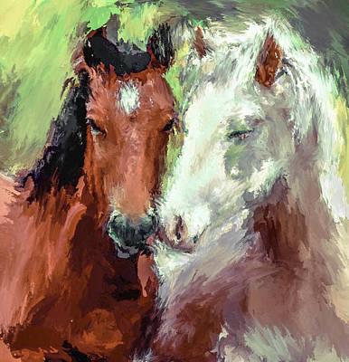 House Pet Digital Art - Horse Love by Yury Malkov