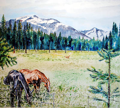 Horse Meadow Art Print by Tracy Rose Moyers