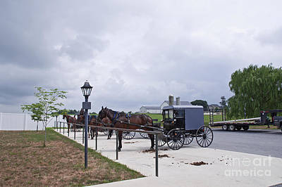 Horse N Buggy With Storm Brewing Original by Ruth H Curtis