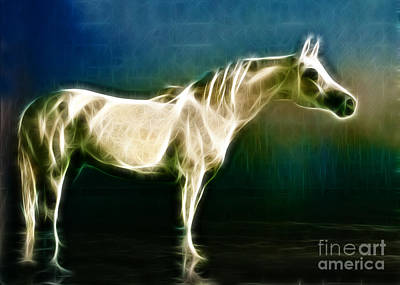 Horse Of Light Art Print by Jo Collins
