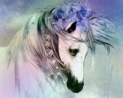 Horse Pastels Painting - Horse Of Love by Georgiana Romanovna