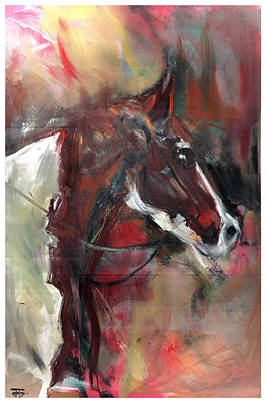 Painting - Horse Of The Past by John Jr Gholson