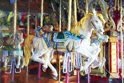 Photograph - Horse On Carousel by Alice Gipson