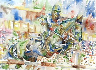 Jockey Painting - Horse Painting.21 by Fabrizio Cassetta