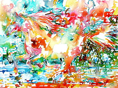 Painting - Horse Painting.34 by Fabrizio Cassetta