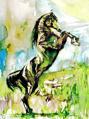 Painting - Horse Painting.40 by Fabrizio Cassetta