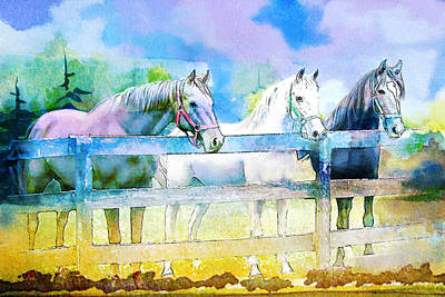 Horse Paintings 008 Art Print by Catf